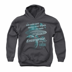 Star Trek - The Next Generation Youth Hoodie Never Forget Charcoal Kids Hoody