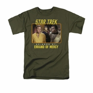 Star Trek - The Original Series Shirt Episode 27 Adult Military Green Tee T-Shirt