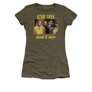 Star Trek - The Original Series Shirt Juniors Episode 27 Military Green Tee T-Shirt