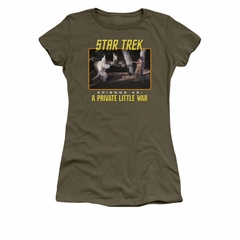 Star Trek - The Original Series Shirt Juniors Episode 45 Military Green Tee T-Shirt
