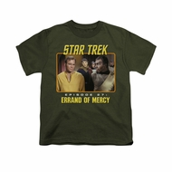 Star Trek - The Original Series Shirt Kids Episode 27 Military Green Youth Tee T-Shirt