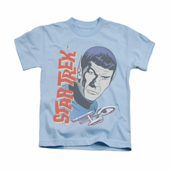 Star Trek - The Original Series Shirt Kids Vintage Spock Light Blue Youth Tee T-Shirt