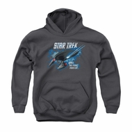 Star Trek Youth Hoodie Final Frontier Charcoal Kids Hoody
