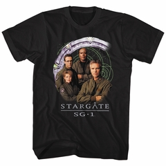 Stargate SG-1 Shirt Cast And Gate Black T-Shirt