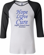 Stomach Cancer Tee Hope Love Cure Ladies Raglan