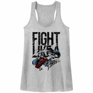 Street Fighter Juniors Tank Top Fight Like A Athletic Heather Racerback