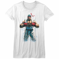 Street Fighter Shirt Juniors RYU White T-Shirt