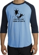Stunts Crashing Falling Raglan Shirt Carolina Blue/Navy - Black Print