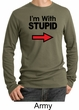 Stupid Shirt I'm With Stupid Black Print Funny Adult Thermal Shirt