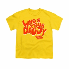 Sugar Daddy Shirt Kids Whose Your Daddy Gold T-Shirt