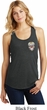 Sugar Skull Patch Pocket Print Ladies Racerback Tank Top
