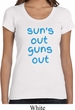 Suns Out Guns Out Ladies Scoop Neck Shirt