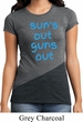 Suns Out Guns Out Ladies Tri Blend Crewneck Shirt