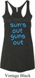 Suns Out Guns Out Ladies Tri Blend Racerback Tank Top