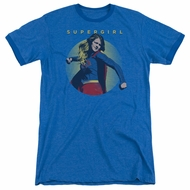 Supergirl Classic Hero Royal Blue Ringer Shirt