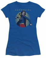 Supergirl Juniors Shirt Classic Hero Royal Blue T-Shirt