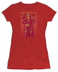 Supergirl Juniors Shirt Ready Set Red T-Shirt