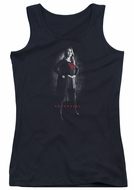 Supergirl Juniors Tank Top Noir Black Tanktop