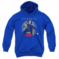 Supergirl Kids Hoodie Classic Hero Royal Blue Youth Hoody