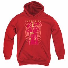 Supergirl Kids Hoodie Ready Set Red Youth Hoody