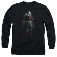 Supergirl Long Sleeve Shirt Noir Black Tee T-Shirt
