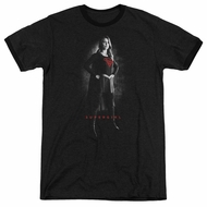 Supergirl Noir Black Ringer Shirt