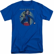 Supergirl Shirt Classic Hero Royal Blue Tall T-Shirt
