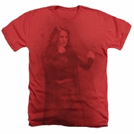 Supergirl Shirt Girl Of Steel 2 Heather Red T-Shirt