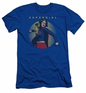 Supergirl Slim Fit Shirt Classic Hero Royal Blue T-Shirt