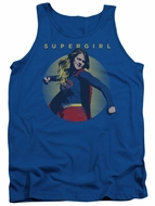 Supergirl Tank Top Classic Hero Royal Blue Tanktop