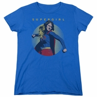 Supergirl Womens Shirt Classic Hero Royal Blue T-Shirt