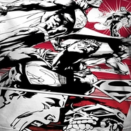 Superman Angry Red Sublimation Shirts