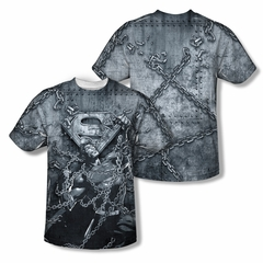 Superman Breaking Free Sublimation Shirt Front/Back Print