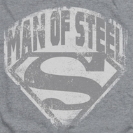 Superman Distressed Man Of Steel Shirts