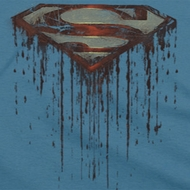 Superman Dripping Shield Shirts