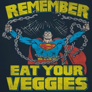 Superman Eat Veggies Shirts