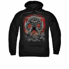 Superman Hoodie Doomsday Dust Black Sweatshirt Hoody