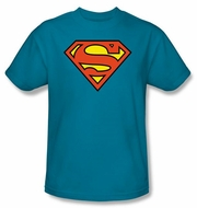 Superman Kids Logo T-shirt DC Comics Turquoise Tee Shirt Youth