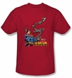 Superman Kids T-shirt Breaking Chains Superhero Red Tee Shirt Youth