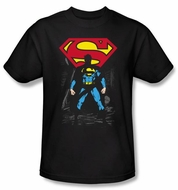 Superman Kids T-shirt DC Comics Dark Alley Logo Black Tee Youth