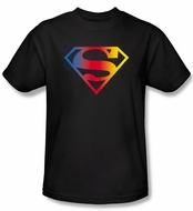 Superman Kids T-shirt DC Comics Gradient Shield Logo Black Tee Youth