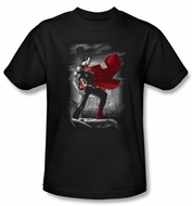 Superman Kids T-shirt DC Comics Metropolis Guardian Black Tee Youth