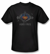 Superman Kids T-shirt DC Comics Nerd Rage Black Tee Shirt Youth