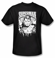 Superman Kids T-shirt DC Comics Super Metal  Black Tee Youth