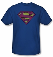 Superman Kids T-shirt Little Logos Shield Royal Blue Tee Youth