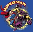 Superman Kids T-shirt - Superman Vs Mongol Youth Royal Blue Tee