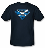 Superman Logo Kids Shirt Scottish Shield Scotland Youth Navy Blue Tee