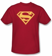 Superman Logo Kids T-Shirt Red And Gold Shield  Red Tee Youth
