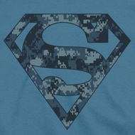 Superman Navy Digi Camo Shield Shirts