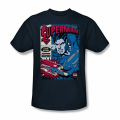 Superman Shirt Action Packed Navy T-Shirt